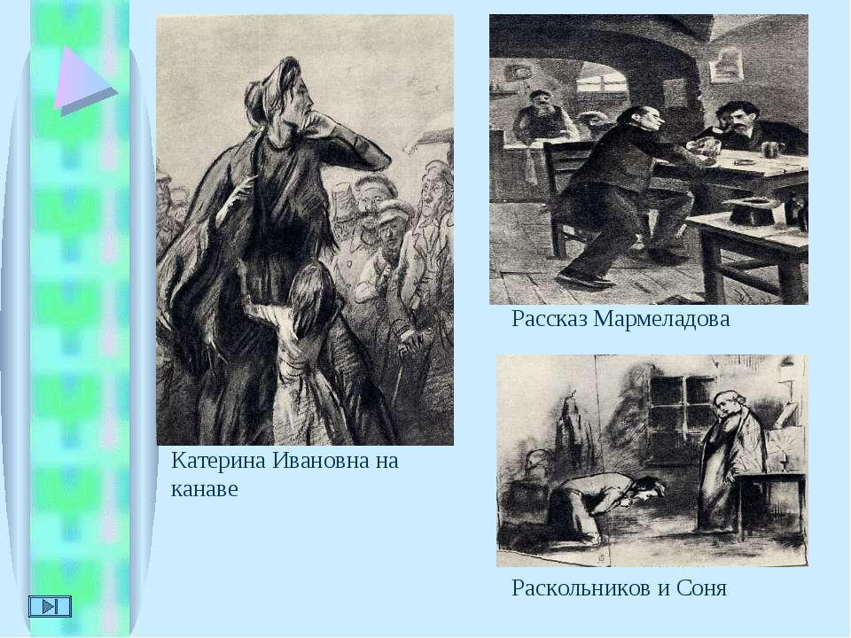 Катерина Ивановна на канаве Рассказ Мармеладова Раскольников и Соня