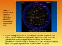 Слово «сузір'я» (від лати.constellatio) означає «колекція (або група) зірок»...