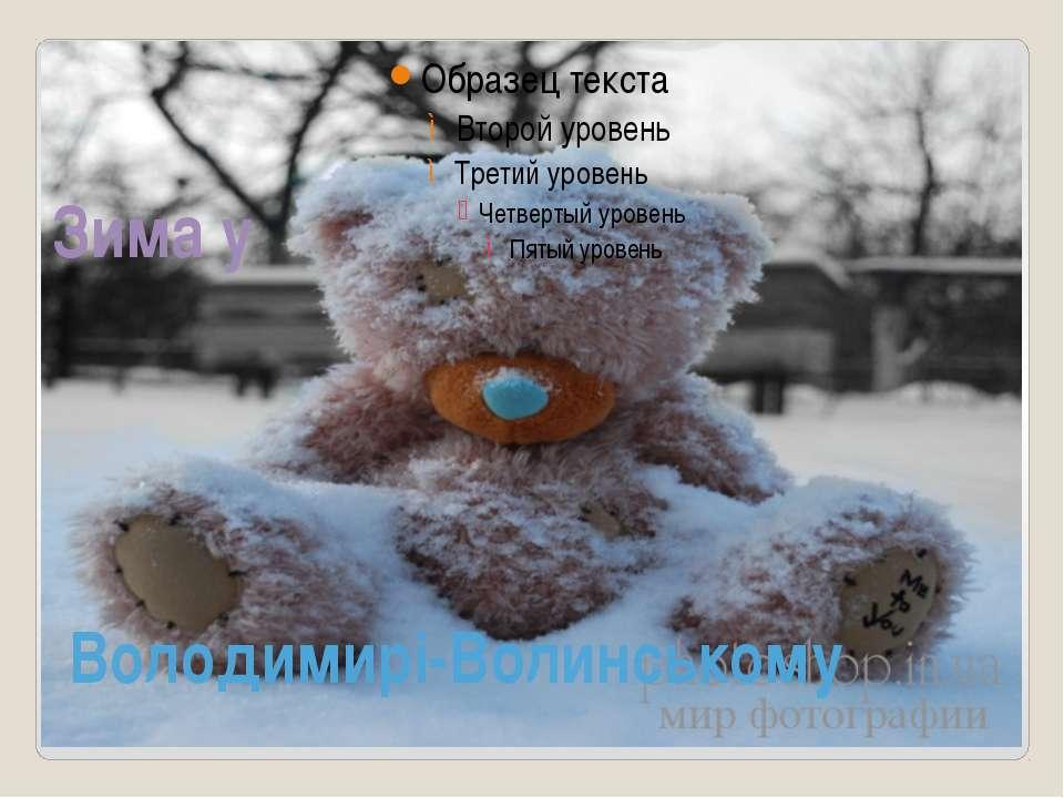 Зима у Володимирі-Волинському