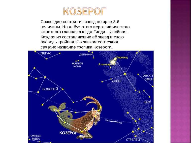 Созвездие состоит из звезд не ярче 3-й величины. На «лбу» этого иероглифическ...