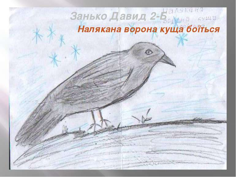 Занько Давид 2-Б Налякана ворона куща боїться