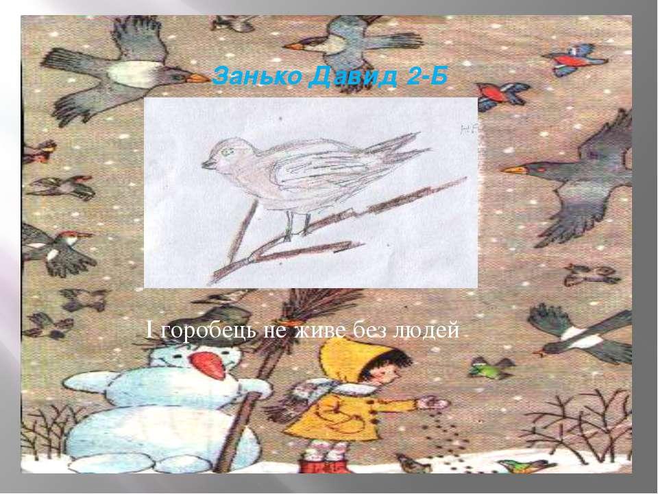 Занько Давид 2-Б І горобець не живе без людей