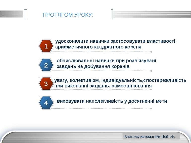 www.themegallery.com ПРОТЯГОМ УРОКУ: удосконалити навички застосовувати власт...