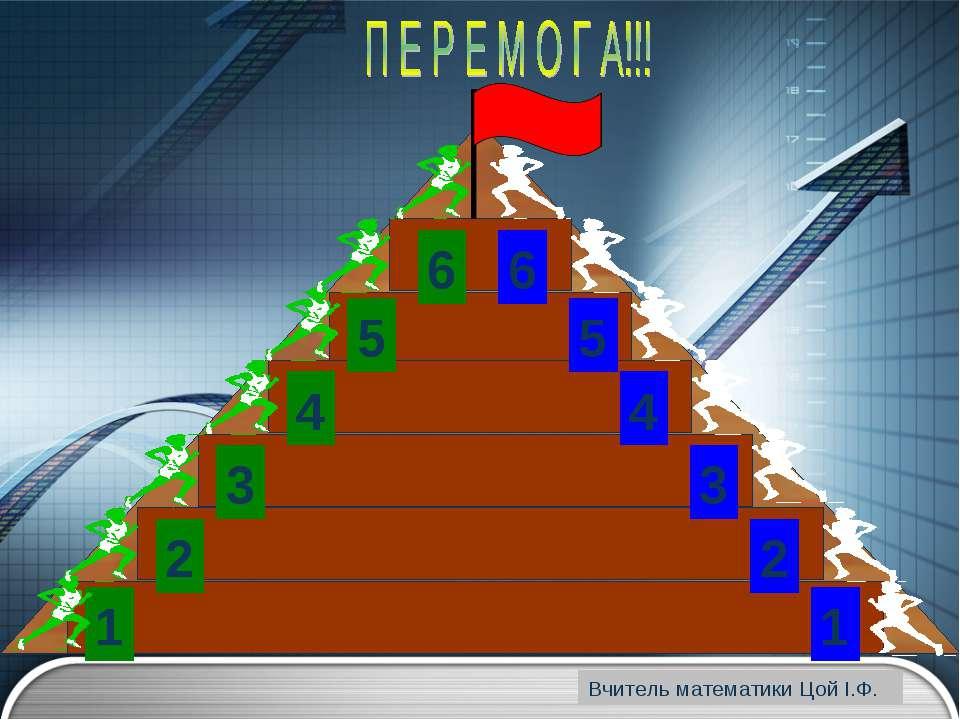 www.themegallery.com 1 1 2 3 4 5 6 6 5 4 3 2 Вчитель математики Цой І.Ф. www....