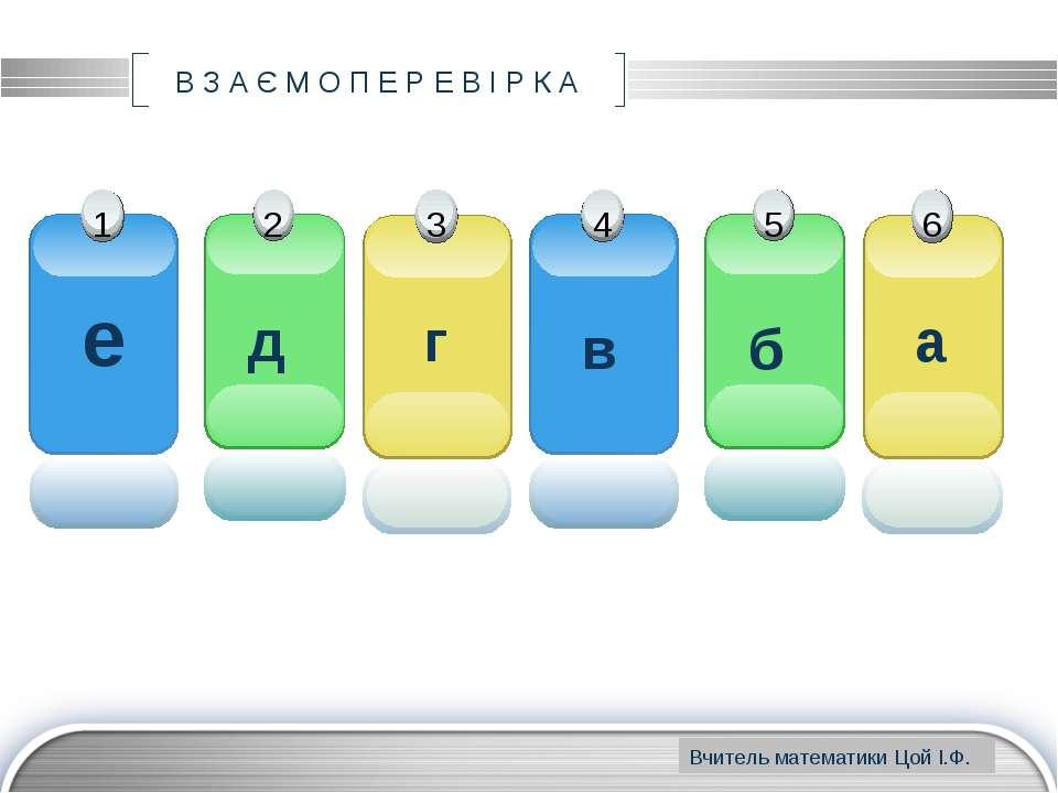 www.themegallery.com В З А Є М О П Е Р Е В І Р К А е д г в б а Вчитель матема...