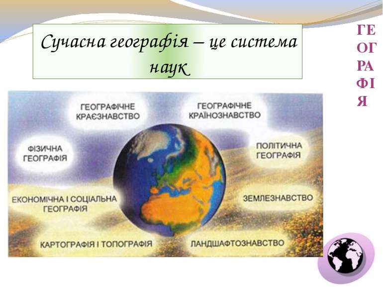 ГЕОГРАФІЯ Сучасна географія – це система наук