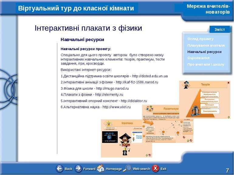 Навчальні ресурси Навчальні ресурси проекту: Спеціально для цього проекту авт...