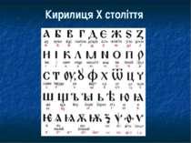 Кирилиця Х століття