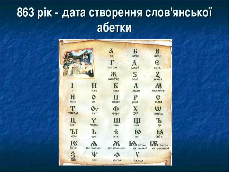 863 рік - дата створення слов'янської абетки