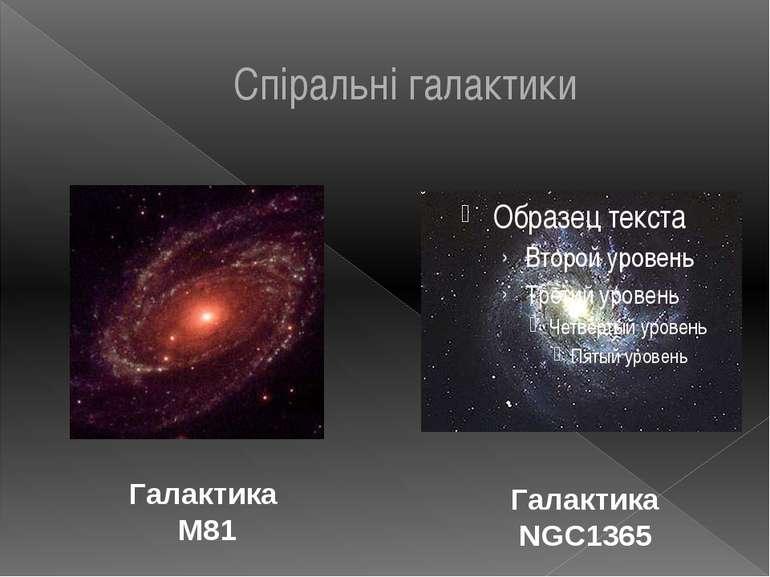 Спіральні галактики Галактика М81 Галактика NGC1365
