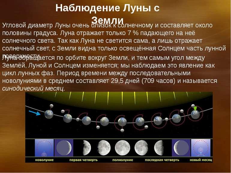 Спостереження Місяця з Землі Кутовий діаметр Місяця дуже близький до сонячног...