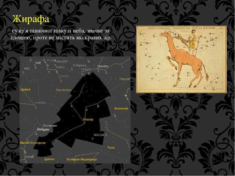 Жирафа сузір'я північної півкулі неба, значне за площею, проте не містить якс...