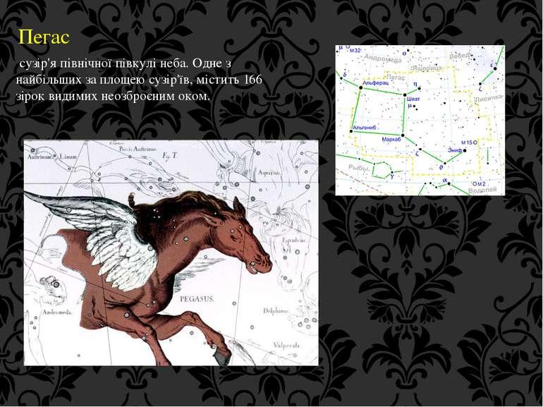 Пегас сузір'я північної півкулі неба. Одне з найбільших за площею сузір'їв, м...