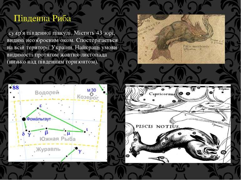 Південна Риба сузір'я південної півкулі. Містить 43 зорі, видимі неозброєним ...