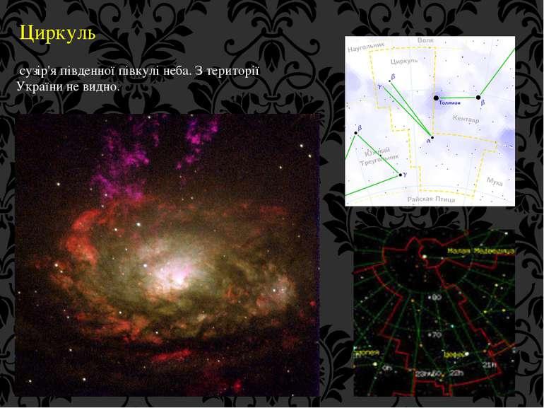 Циркуль сузір'я південної півкулі неба. З території України не видно.