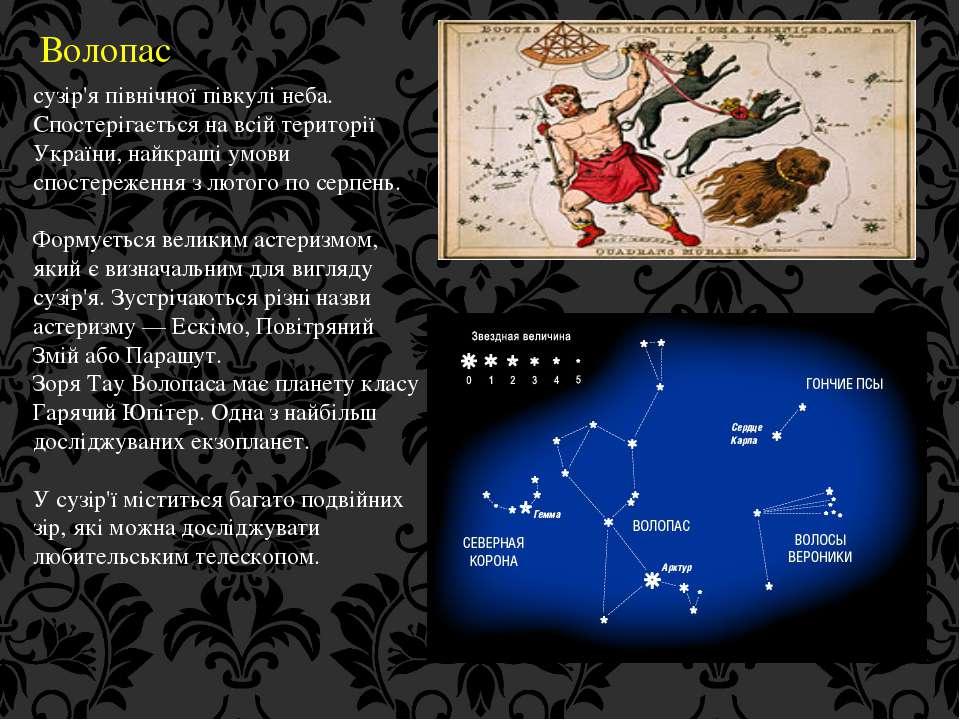Волопас сузір'я північної півкулі неба. Спостерігається на всій території Укр...