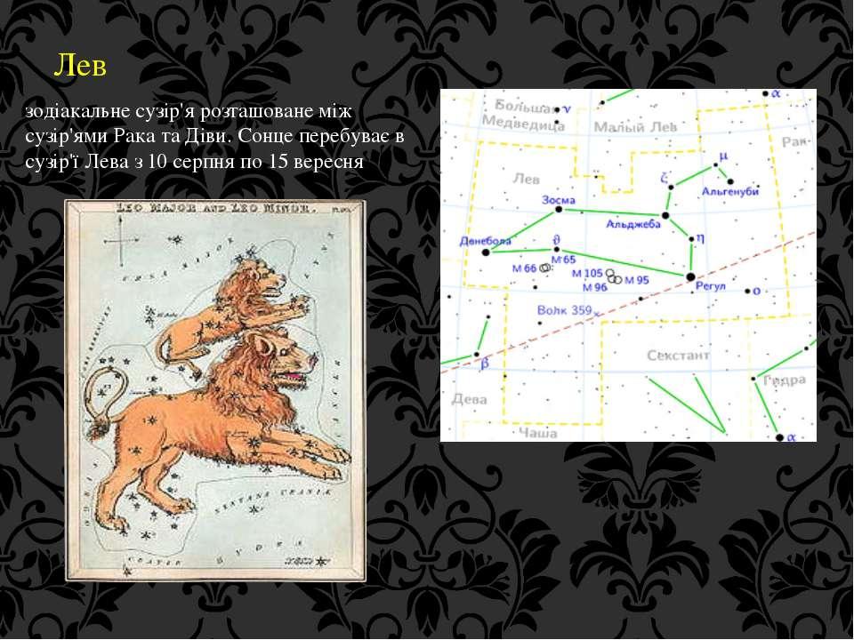 Лев зодіакальне сузір'я розташоване між сузір'ями Рака та Діви. Сонце перебув...