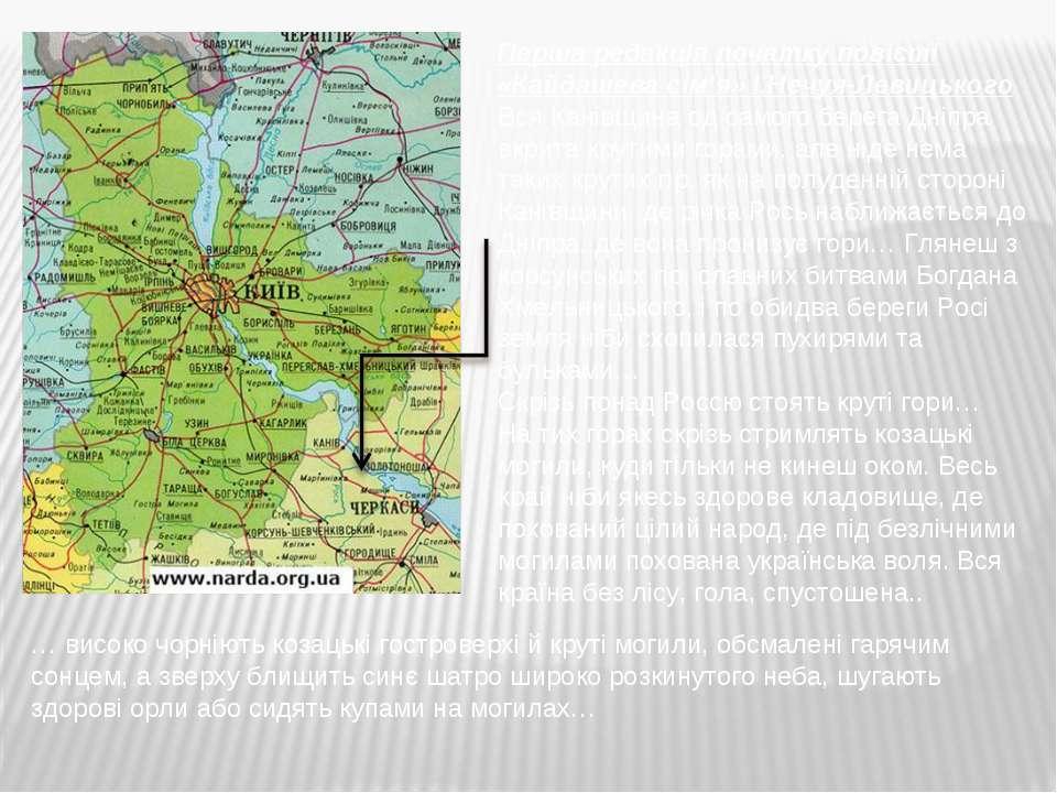 Перша редакція початку повісті «Кайдашева сім'я» І.Нечуя-Левицького Вся Канів...