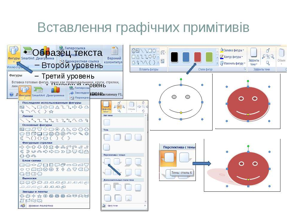 Вставлення графічних примітивів
