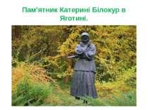 Пам'ятник Катерині Білокур в Яготині.