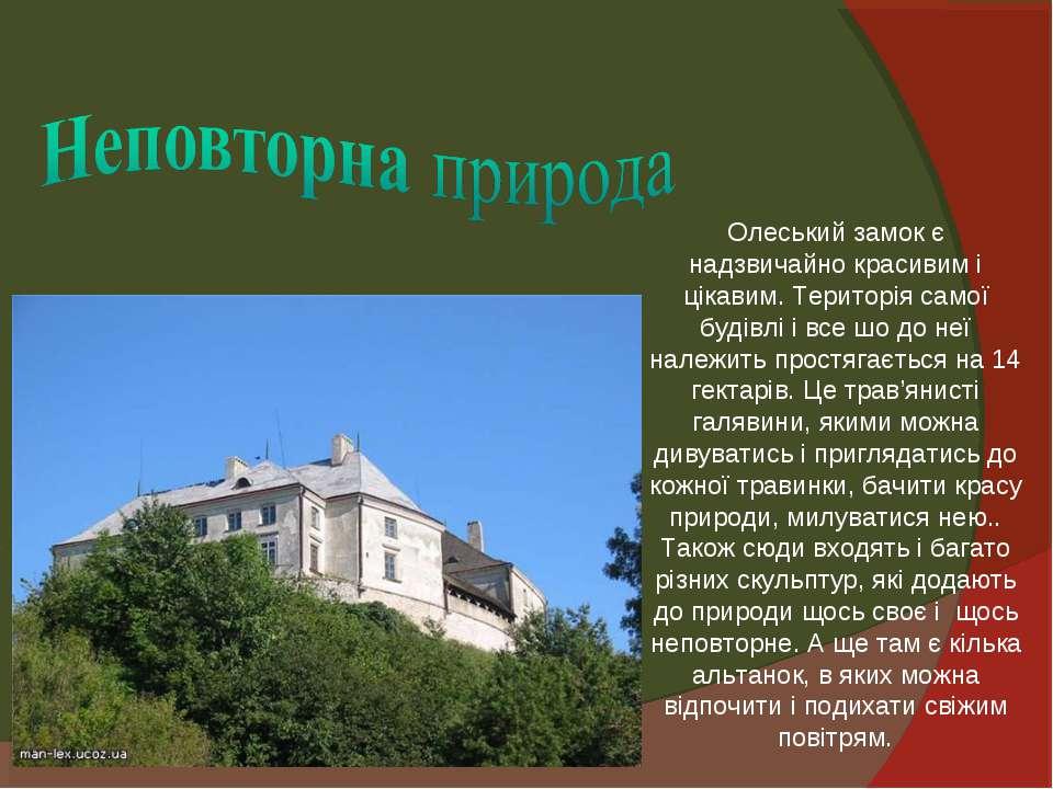 Олеський замок є надзвичайно красивим і цікавим. Територія самої будівлі і вс...