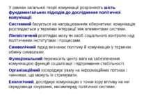 У рамках загальної теорії комунікації розрізняють шість фундаментальних підхо...