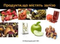 Продукти,що містять залізо КЗ Верхівцевський НВК