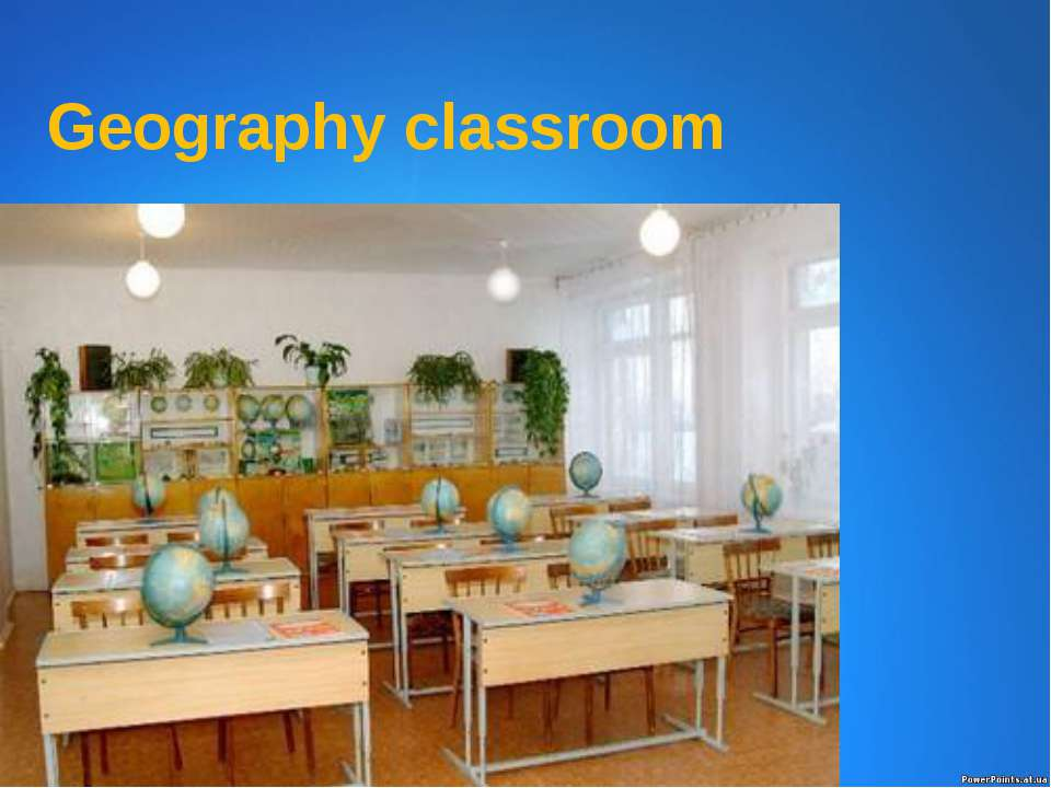 Geography classroom