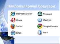 Найпопулярніші браузери: