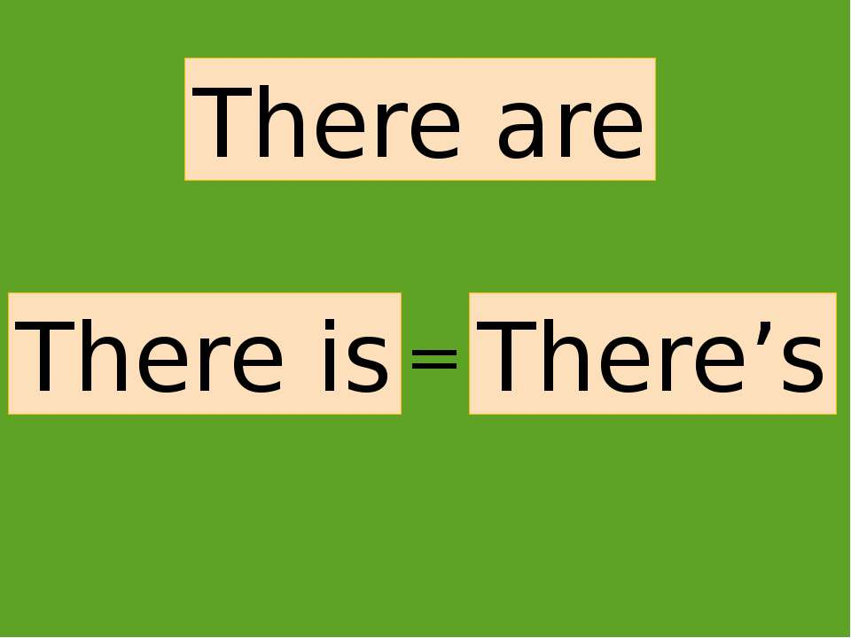 There are There is There's =