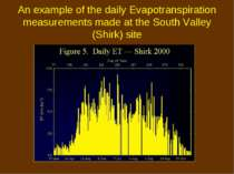 An example of the daily Evapotranspiration measurements made at the South Val...
