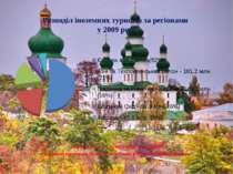 Розподіл іноземних туристів за регіонами у 2009 році Європа була та залишаєть...