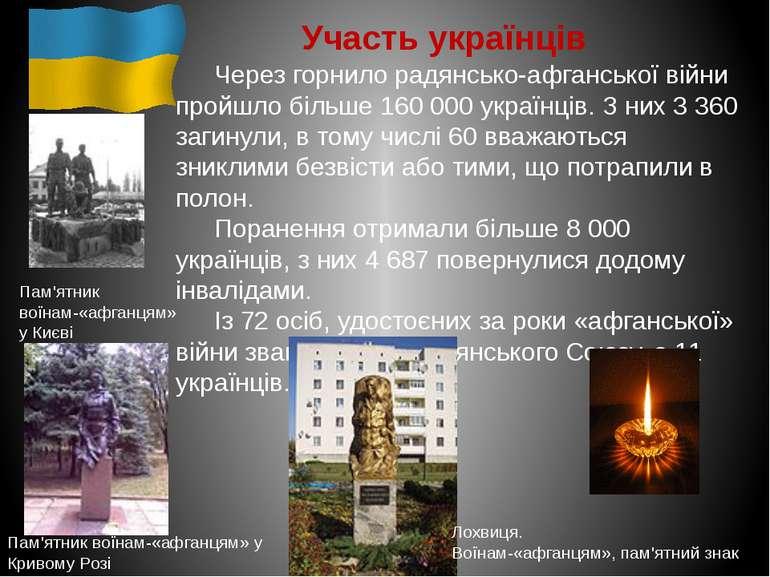 Участь українців Через горнило радянсько-афганської війни пройшло більше 160 ...