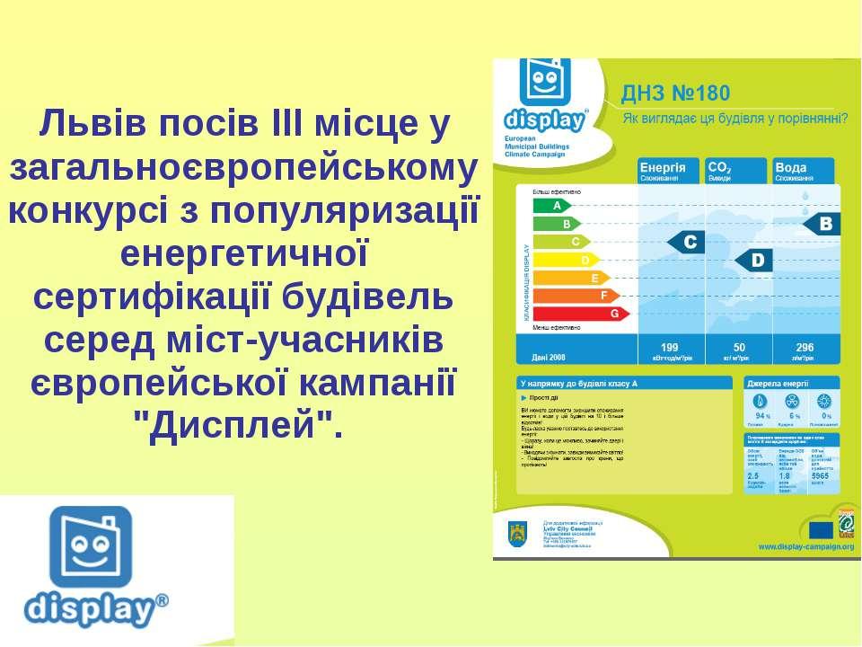 Львів посів ІІІ місце у загальноєвропейському конкурсі з популяризації енерге...