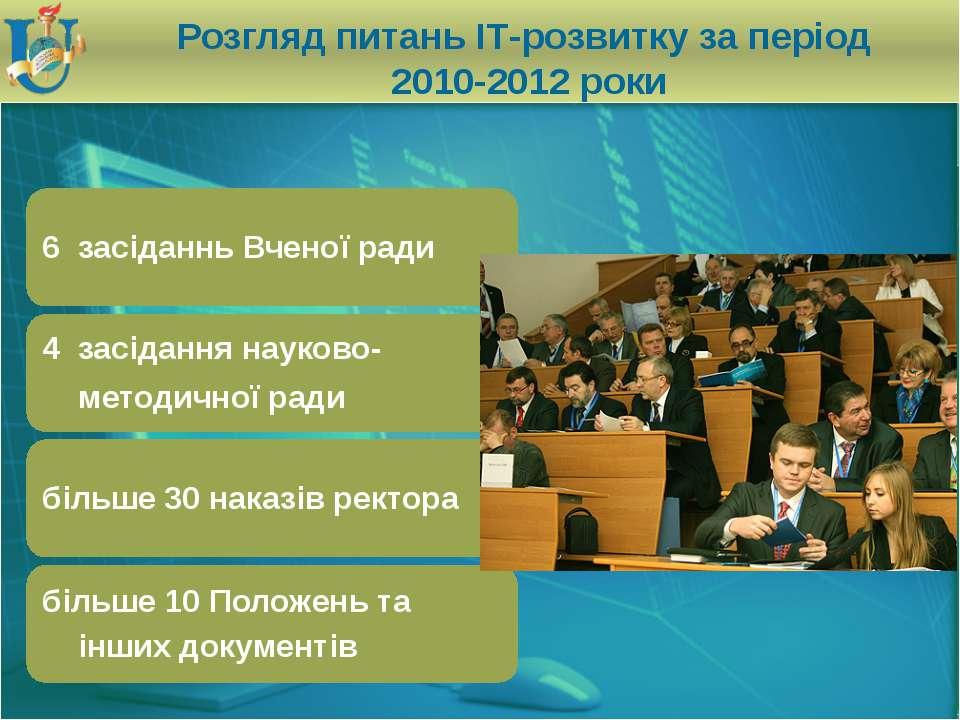 Розгляд питань ІТ-розвитку за період 2010-2012 роки