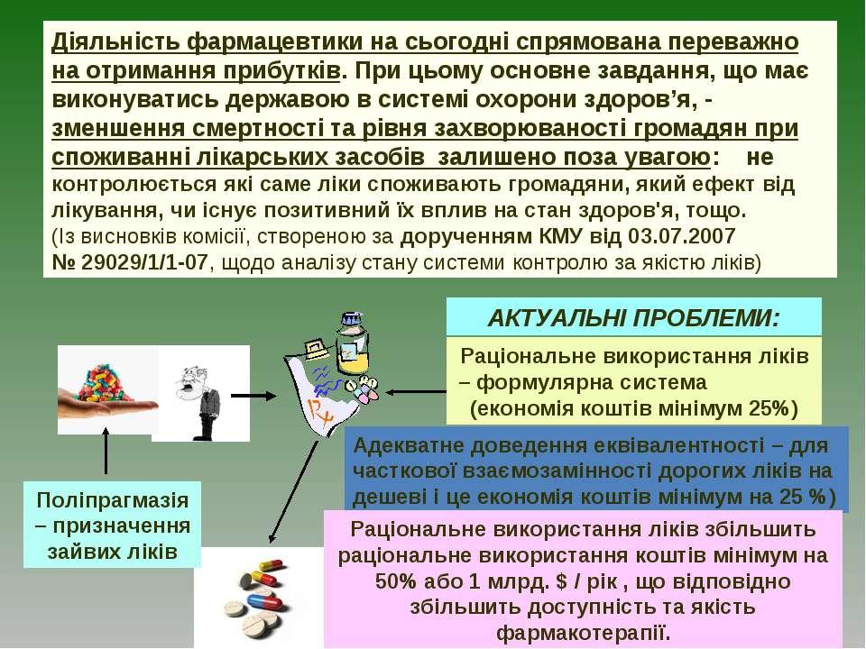Раціональне використання ліків – формулярна система (економія коштів мінімум ...