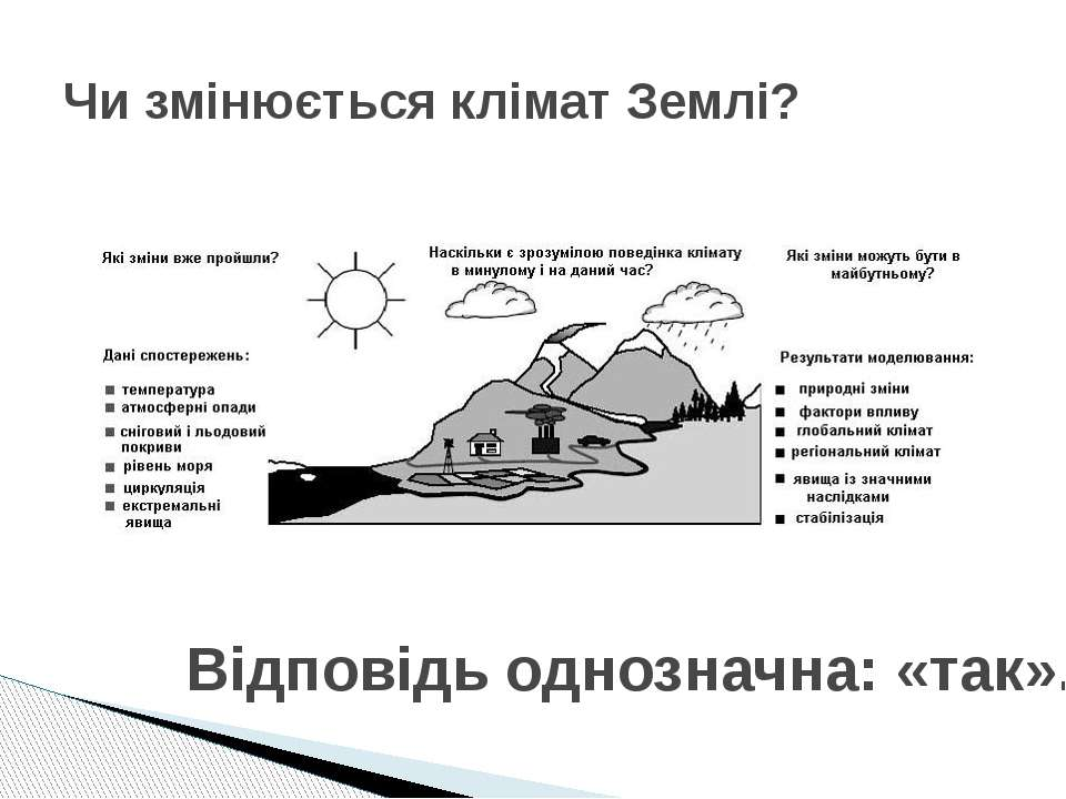 Чи змінюється клімат Землі? Відповідь однозначна: «так».