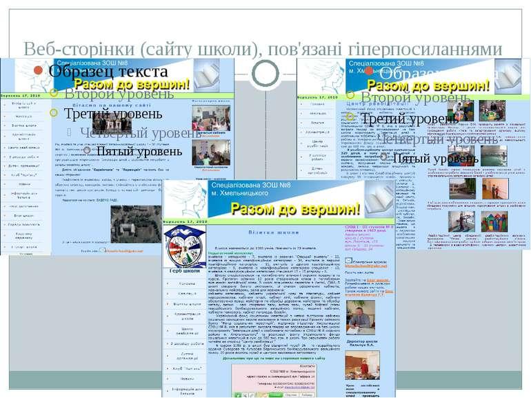 Веб-сторінки (сайту школи), пов'язані гіперпосиланнями