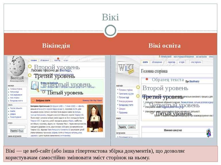 Вікіпедія Вікі освіта Вікі Вікі — це веб-сайт (або інша гіпертекстова збірка ...