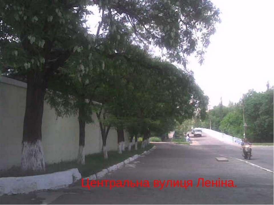 Центральна вулиця Леніна.