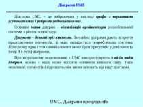 Діаграми UML Діаграма UML – це зображення у вигляді графа з вершинами (сутнос...
