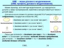UML – мова ділового моделювання. (UML-профіль ділового моделювання). Маємо пр...