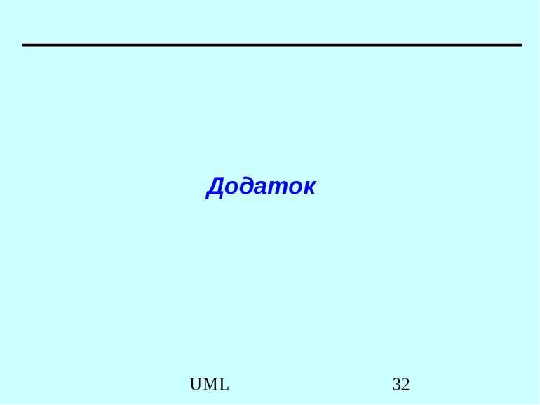 Додаток UML