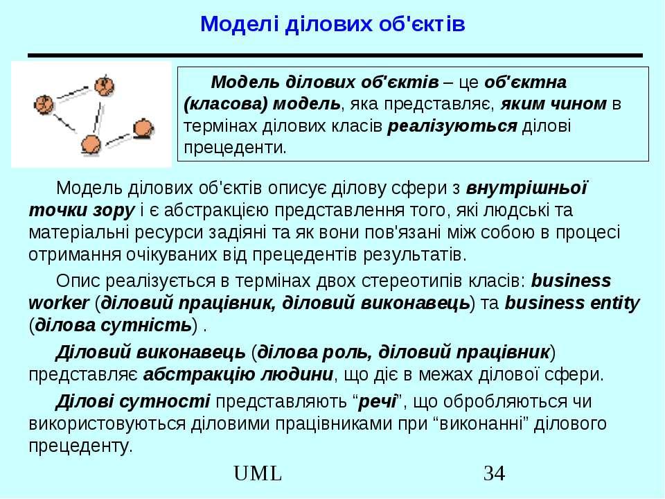 Моделі ділових об'єктів Модель ділових об'єктів описує ділову сфери з внутріш...
