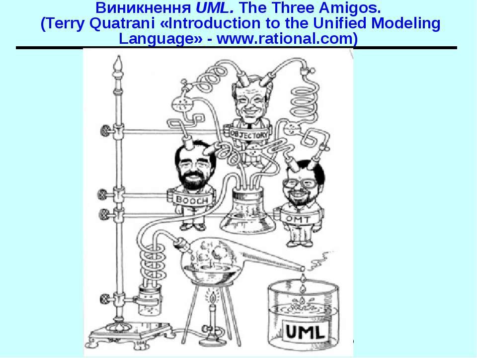 Виникнення UML. The Three Amigos. (Terry Quatrani «Introduction to the Unifie...