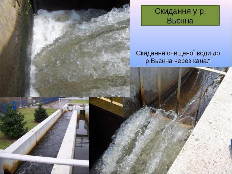 Скидання очищеної води до р.Вьєнна через канал Скидання у р. Вьєнна