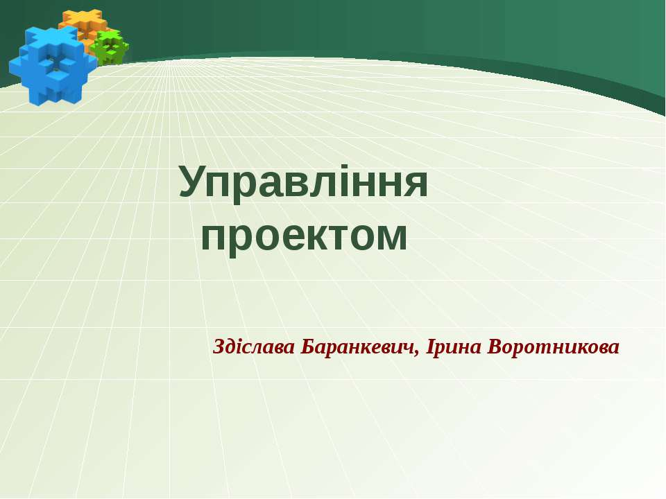 Управління проектом Здіслава Баранкевич, Ірина Воротникова
