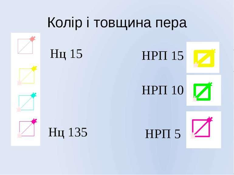 Колір і товщина пера Нц 15 Нц 135 НРП 10 НРП 15 НРП 5