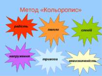 Метод «Кольоропис» радість напруження тепло тривога спокій невизначеність