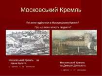 Московський Кремль Московський Кремль за Дмитрія Донського. З картини А. М. В...